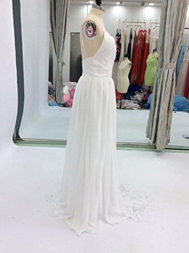 Beach Dress A Backless Spaghetti Straps Ivory Wedding Lace Women s Beautyfudre line xvaOY8w