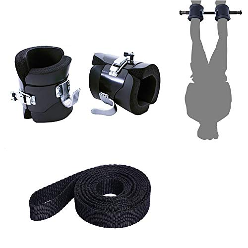 Juup Anti Gravity Inversion Hang Up Boots Therapy Core Gym Fitness for Improving Your Strength Balance Flexibility & Endurance with 2M Safety Rope