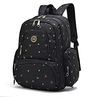 Qimiaobaby Multi-function Baby Diaper Bag Backpack with Changing Pad and Portable Insulated Pocket