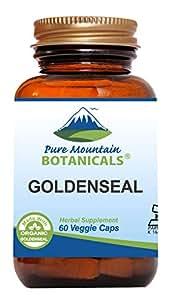 Goldenseal Capsules - 60 Kosher Vegan Caps Now With 250mg Organic Goldenseal Root
