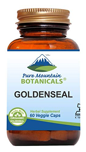 Goldenseal Capsules - 60 Kosher Vegan Caps Now With 250mg Organic Goldenseal Root