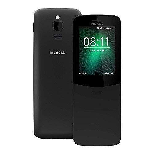Nokia 8110 4G (TA-1067) 512MB / 4GB 2.45-inches Factory Unlocked - International Stock No Warranty (Black)