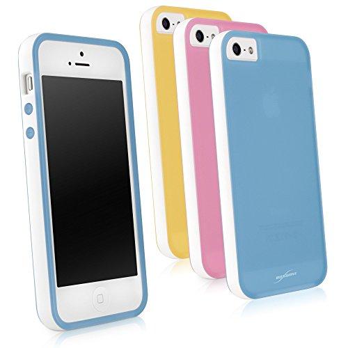 Coque Iphone se, BoxWave® [Snowy Gel givré] Durable Soft Flex Étui Coque pour Apple iPhone se, 5S, 5–Jaune