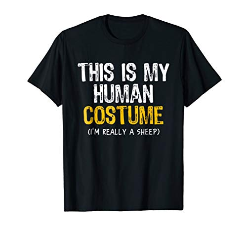 This Is My Human Costume Sheep Halloween Funny T-shirt -