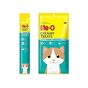 Me-O Creamy Treats with Bonito for Cats and Kittens-Pack of 5