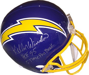 Athlon CTBL-017876 Kellen Winslow Signed San Diego Chargers TB Replica Helmet Dual HOF 95 & 5 Time Pro Bowl - Full (Autographed Hof Pro Helmet)