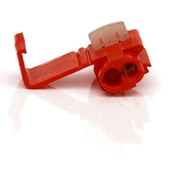 40pcs Abzweigverbinder für Kabelschuhe ROT 0,5-1,5mm² Stromdieb Klemmverbinder