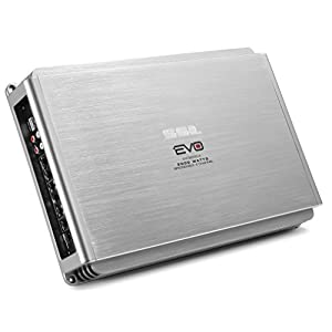 Sound Storm EVO2000.4 EVO 2000 Watt, 4 Channel, 2 to 8 Ohm Stable Class A/B, Full Range, Bridgeable, MOSFET Car Amplifier with Remote Subwoofer Control