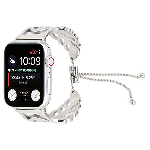 Clearance Sale!DEESEE(TM)Milanese Stainless Steel Bracelet Wristband Strap for Apple Watch Series 4 44mm (Silver)
