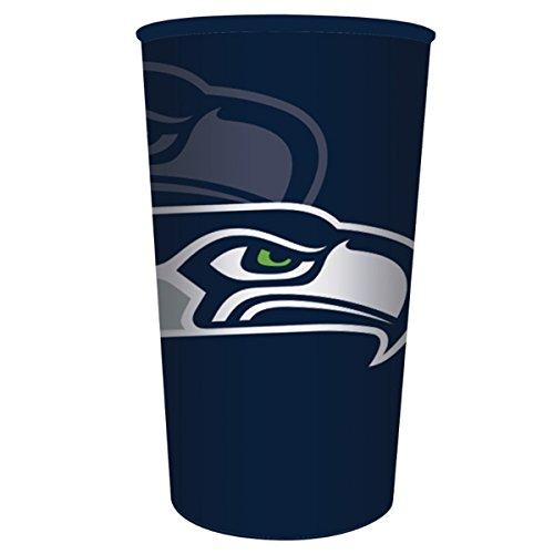 Seattle Seahawks 22 Oz Plastic Stadium or Favor Cup