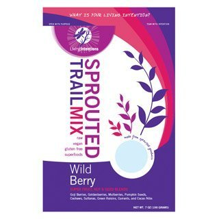 Living Intentions Activated Sprouted Trail Mix Wild Berry 7 oz 198 g