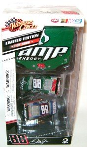 (Dale Earnhardt Jr #88 Chevy Impala SS Iridescent 2 Car AMP & National Guard 1/64 Scale Set by Winners Circle)