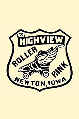 Stickers were issued by roller rinks across the United States Many were stock designs imprinted with the local skating facility This was for the Highview Roller Rink in Newton Iowa Poster Print by U (Roller Poster Skating)