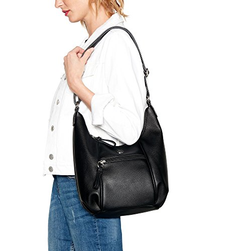 The Womens Black Shoulder The Bag Collection Zip Collection Detail 1qwC7R