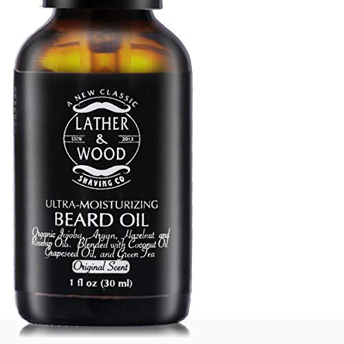 Ultra-Moisturizer Beard Oil For Men – Premium Blend – Spill-proof Pump – Original Scent is a Crisp Forest Ambience of Eucalyptus, Mint, and Lavender – Organic Hazelnut, Jojoba, Argan, Grapeseed Oils