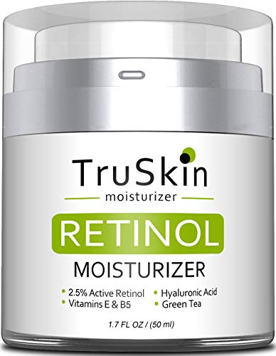 (TruSkin RETINOL Cream MOISTURIZER for Face and Eye Area, Best for Wrinkles, Fine Lines - Vitamin A, E, B5, Hyaluronic Acid, Organic Jojoba Oil, Green Tea. 1.7 Fl Oz)