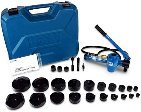 TEMCo TH0037 4″ HYDRAULIC KNOCKOUT PUNCH Electrical Conduit Hole Cutter Set KO Tool Kit 5 Year Warranty