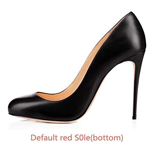 sur Pompes de Bout Talon Noir Caitlin Robe Slip Chaussures EscarpinsTalons Haut Semelle Femmes CM Pan Rouge 10 Rond Sexy Aiguille Fête Mat w6I7vx06