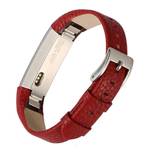 EUG Cuir Rouge de remplacement réglable Bandes pour Fitbit Alta Bracelet-no tracker
