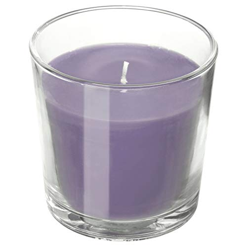 IKEA ASIA SINNLIG Scented Candle in Glass, BlackBerry, Lilac