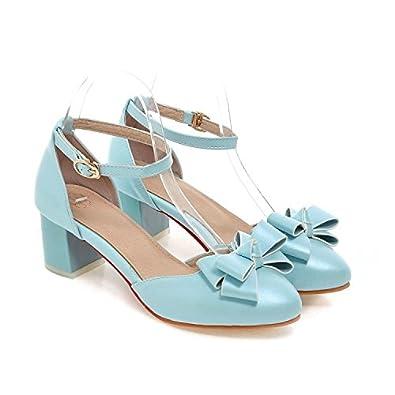 QINX Frauen Fisch Mund Sandalen Niedrigem Absatz Sommer Riemchen Schuhe