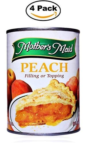 (Peach Pie Filling & Topping (Pack of 4-15oz) 60 ounces Total - Makes 2 Peach Pies)