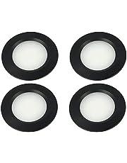 LEDLUX 4 stuks mini-LED-inbouwspots, rond, smal, 3 W, DC 12 V, 24 V, boring 50 mm, voor keuken, badkamer, camper
