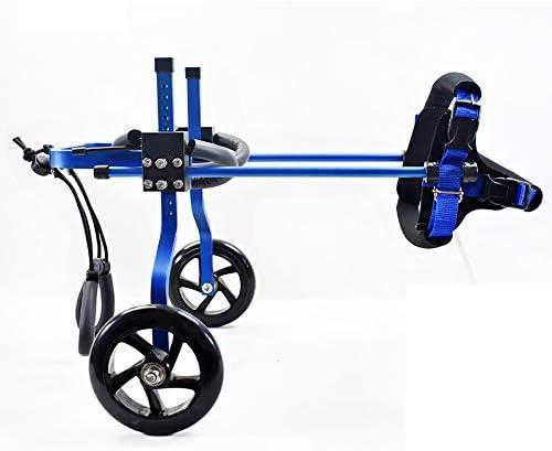 ZSCWMB Silla de ruedas para mascotas, perros y gatos, miembros traseros con discapacidades, lesión en el carro, médico de rehabilitación, mascota pequeña, scooter scooter silla de ruedas para mascotas