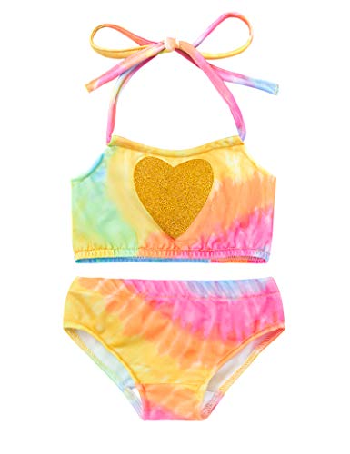 Baby Girl Lace Up Two Piece Swimsuits Infant