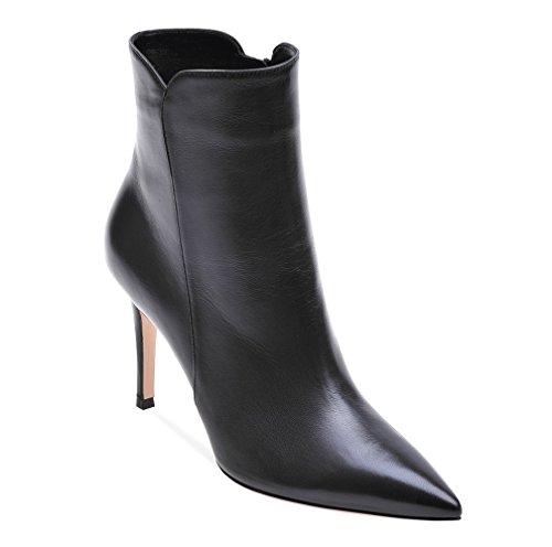 Alla Con a da Caviglia CM Donna Stivaletti Nero spillo Donna Tacco Tacco Soireelady Stivali 8 TzqSES