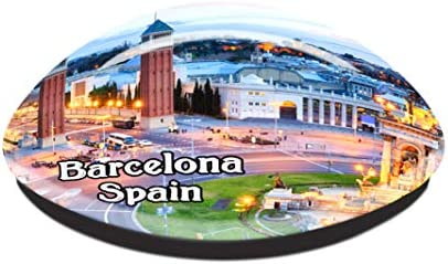 Plaza de España Barcelona España Imán de Nevera Cristal 3D Cristal ...