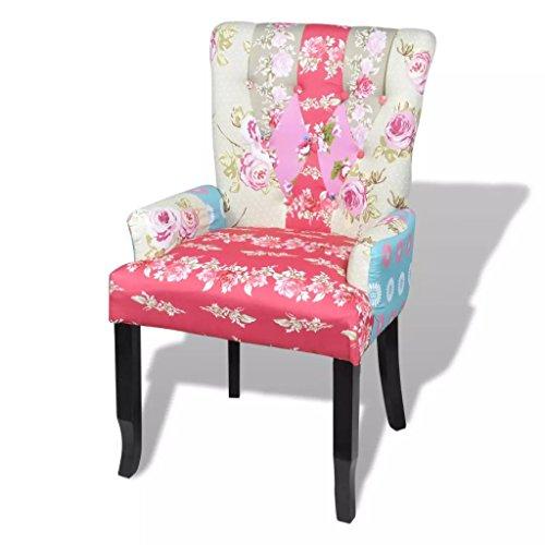 Patchwork Armchair Fabric Upholstery Armchair Armchair Caddy Overall dimensions: 1' 10