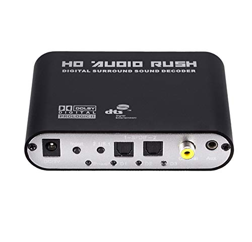 (Digital Fiber Coaxial DTS Decoder Analog Audio Converter 5.1 Channel DTS Dolby AC-3 Audio Decoder)