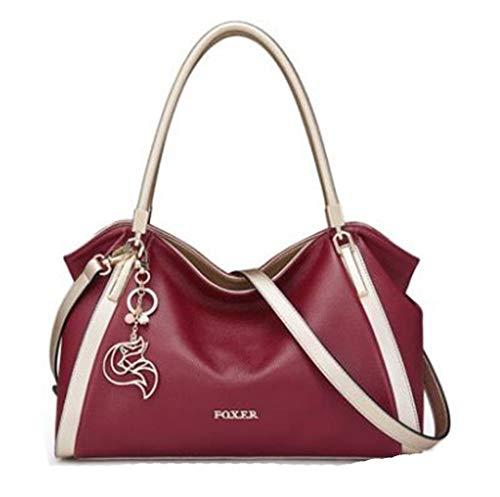 Women's Soft Genuine Leather Handbags Female Cowhide Big Size Shoulder Bag 926097F1S