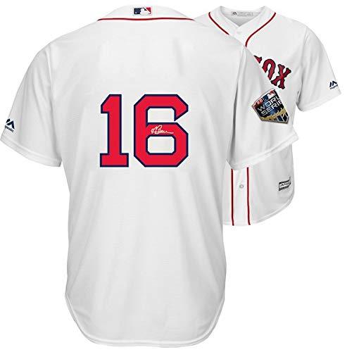 ANDREW BENINTENDI Autographed Boston Red Sox 2018 MLB World Series Champions Majestic White Replica World Series Jersey FANATICS ()