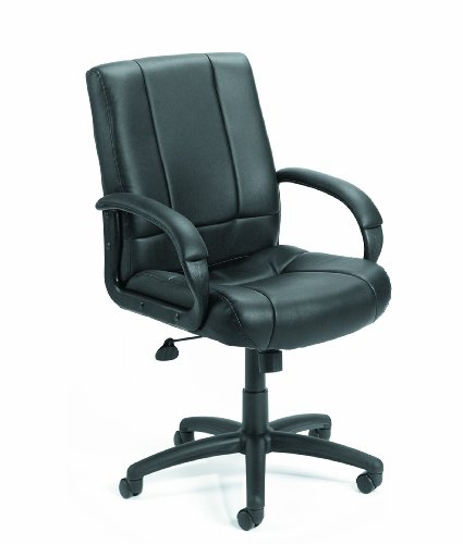 (Boss Office Products B7906 Caressoft Executive Mid Back Chair in Black)