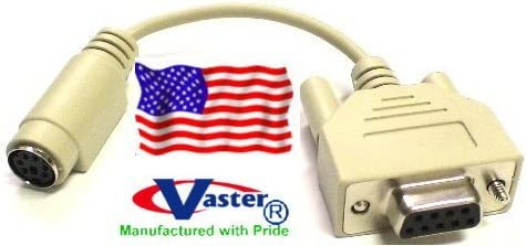 VASTER PS//2 Mouse to Serial Computer Adapter Cable