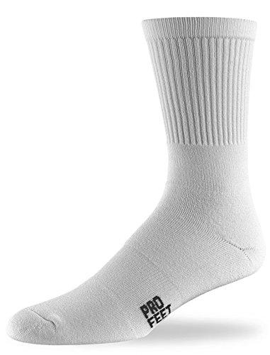 Pro Feet Performance Multi-Sport Polypropylene Crew Socks, White, X-Large