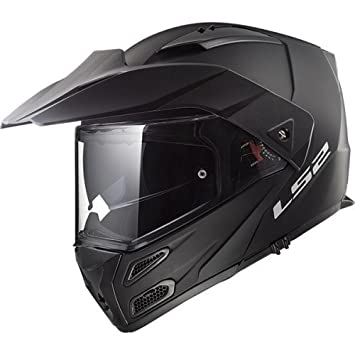 LS2 Cascos de Motocicleta Metro Evo Mat, Negro, Talla L