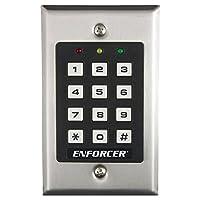 Teclado de control de acceso Seco-Larm SK-1011-SDQ ENFORCER, hasta 1,000 códigos de usuario posibles (4-8 dígitos), la salida puede programarse para activarse hasta 99,999 segundos (casi 28 horas)