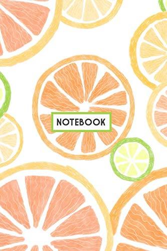 Notebook: Fresh Citrus Fruits Notebook, Lemon Lime Grapefruit Orange (Composition Book, Journal, Diary) (6.14″ x 9.21″)