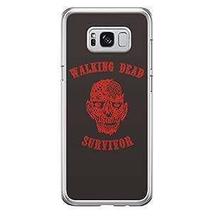 Samsung S8 Transparent Edge Case The Walking Dead Survivor -Multicolor