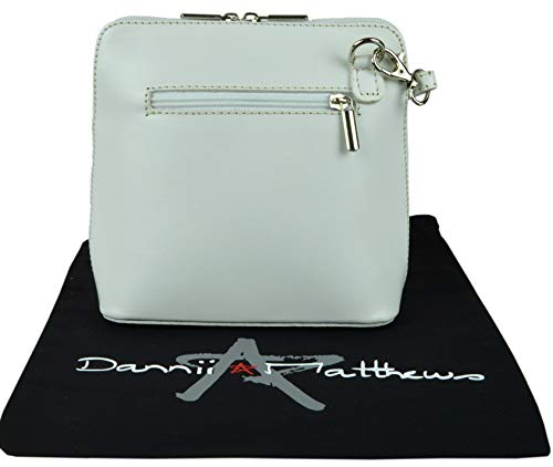Protective a Body Cross Branded White Storage Made Small Includes Shoulder Italian Leather Hand Handbag Bag HgwqP