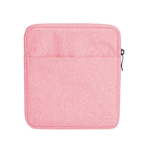 Cywulin Sleeve Case Bag for 7 inch Kindle Fire Tablet Oasis Tablet Ereader, Protective Cover Soft Portable Carrying Pouch for Kindle Fire 7 Kindle Oasis (Pink)