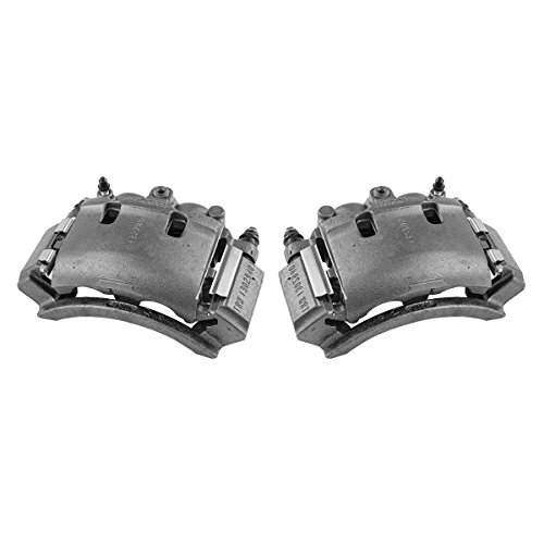 CCK02471 [ 2 ] REAR Premium Grade OE Semi-Loaded Caliper Assembly Pair - Ford F150 Brake Caliper