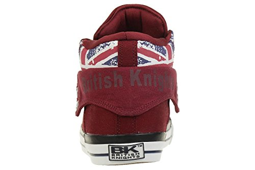 British Knights ROCO BK Sneaker B41-3715-01 England Flagge Jeans Burgundy burgundy/Union Jack