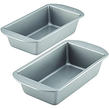 Farberware Nonstick Bakeware Bread and Meat Loaf Pan Set, 2-Piece, Gray