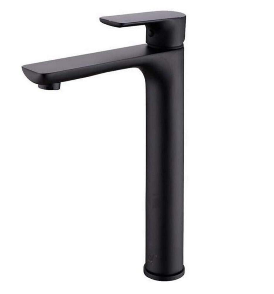 Taps Kitchen Sinkbathroom Faucet Black Solid Brass Bathroom Solid Basin Faucet Cold and Hot Water Mixer Single