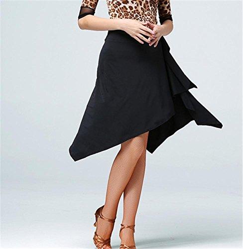 de la couleurs jupes professionnelle black femme jupe autres danse latine pratique w8g08pqx
