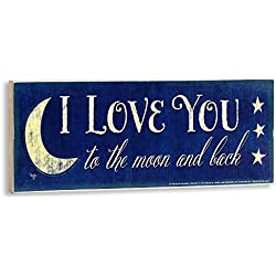 I Love You to The Moon and Back Wall Plaque